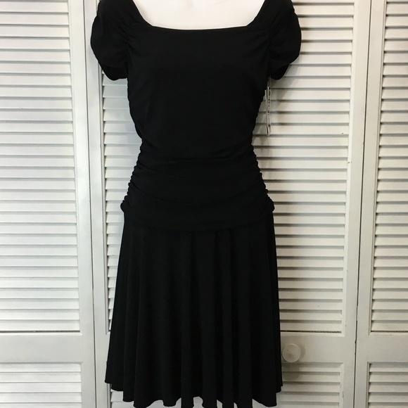 Byer Too Dresses & Skirts - Byer Too Black Dress wide neck fit & flare dress M